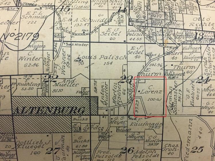 Lorenz land map 1915 Altenburg area