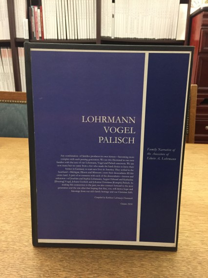 Lormann Vogel Palisch family book