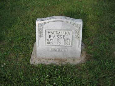 Magdalena Kassel gravestone Salem Farrar MO
