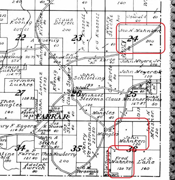 Mahnken land map 1915