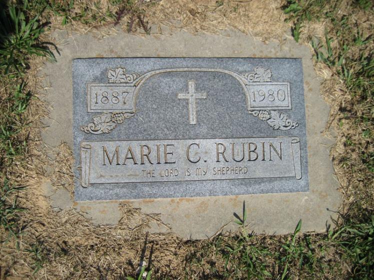 Marie Rubin gravestone Trinity Altenburg MO