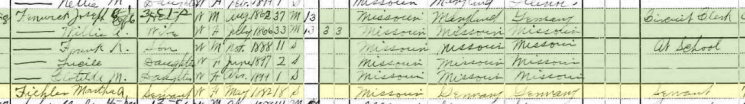 Martha Fiehler 1900 census Perryville MO