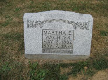Martha Wachter gravestone Trinity Altenburg MO