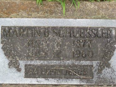 Martin Schuessler gravestone Concordia Frohna MO