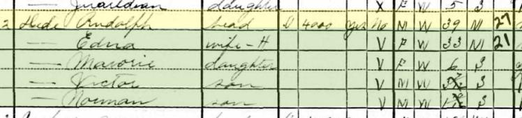 Rudolph Dede 1930 census Cape Girardeau