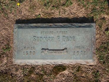 Rudolph Dede gravestone Cape County Memorial Cape Girardeau MO