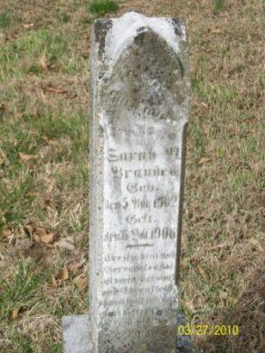 Sarah Brandes gravestone Grace Uniontown MO