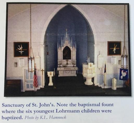 St. John's Lutheran Baldwin IL interior
