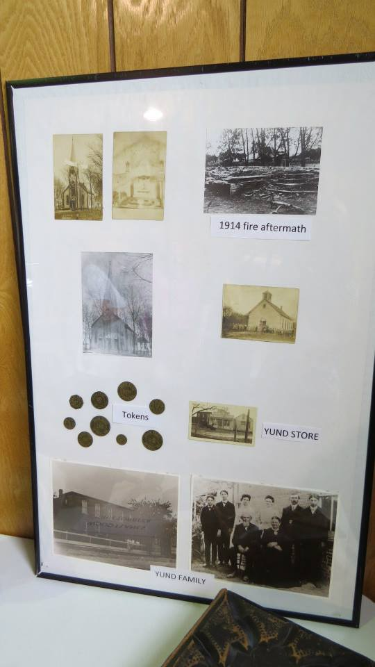 St. Paul Shobonier IL history display