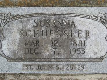 Susanna Schuessler gravestone Concordia Frohna MO