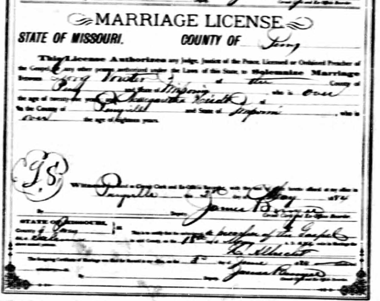 Voerster Heidt marriage license