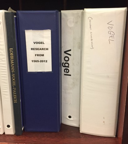 Vogel binders Museum research library
