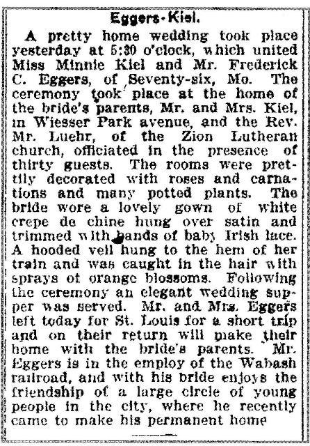 Wedding December 1912