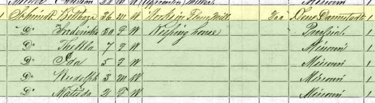 Balthasar Schmidt 1870 census Wittenberg MO