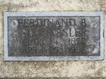 Ferdinand Schuessler gravestone Concordia Frohna MO