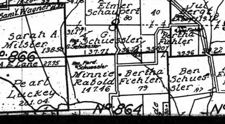 Ferdinand Schuessler land map 1915