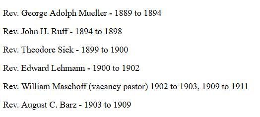 First pastors of St. John Lutheran St. James MO