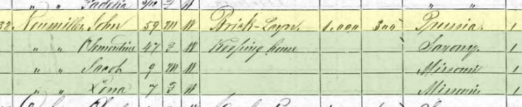 Gottlob Neumueller 1870 census Brazeau Township MO