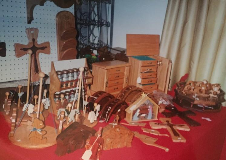 Herb woodwork display