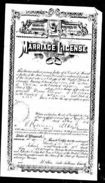 Iben Ahner marriage license Kirkwood MO