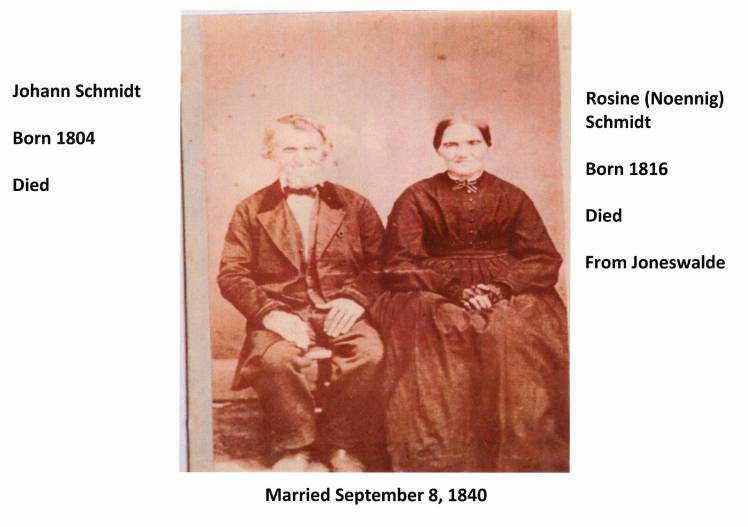 Johann and Rosine Noennig Schmidt