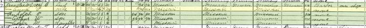 Joseph Darnstaedt 1920 census Altenburg MO