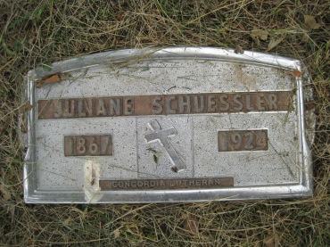 Juliane Schuessler gravestone Concordia Frohna MO