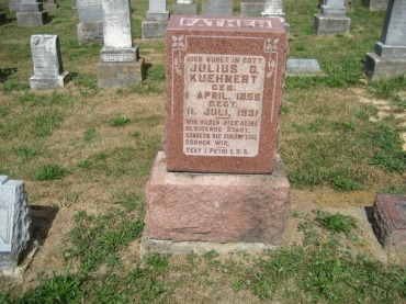 Julius Kuehnert gravestone Trinity Altenburg MO