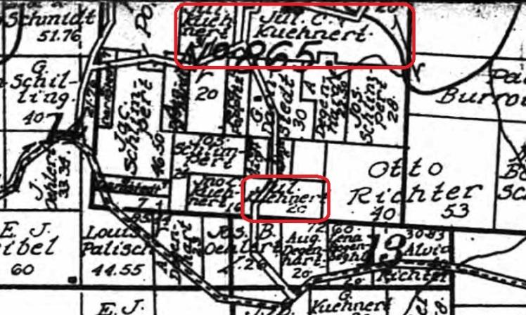 Julius Kuehnert land map 1915