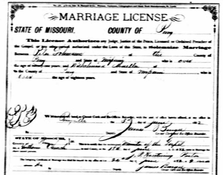 Lohmann Mueller marriage license