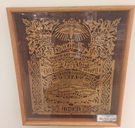 Lord's Prayer Herb Schmidt woodwork museum