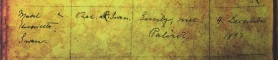 Mabel Swan baptism record 1 Immanuel Altenburg MO