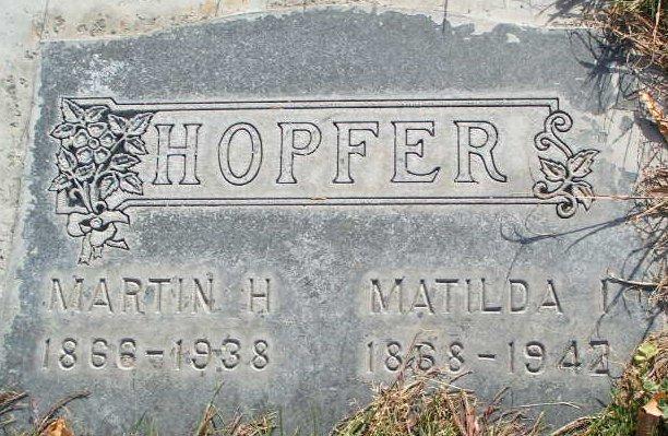 Martin and Mathilda Hopfer gravestone Omak Cemetery WA