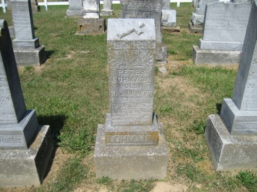 Peter Lohmann gravestone Trinity Altenburg MO