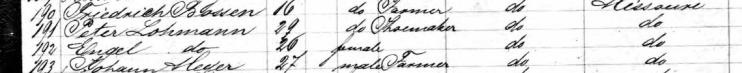 Peter Lohmann passenger list Carl