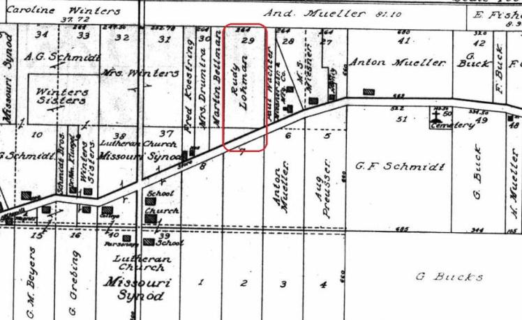 Rudy Lohmann land map 1915