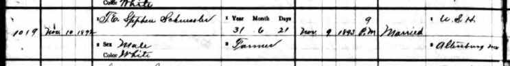 Stephanus Schuessler death record 1 Perry County MO