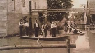 Weinhold Flour Mill 1903 flood Wittenberg