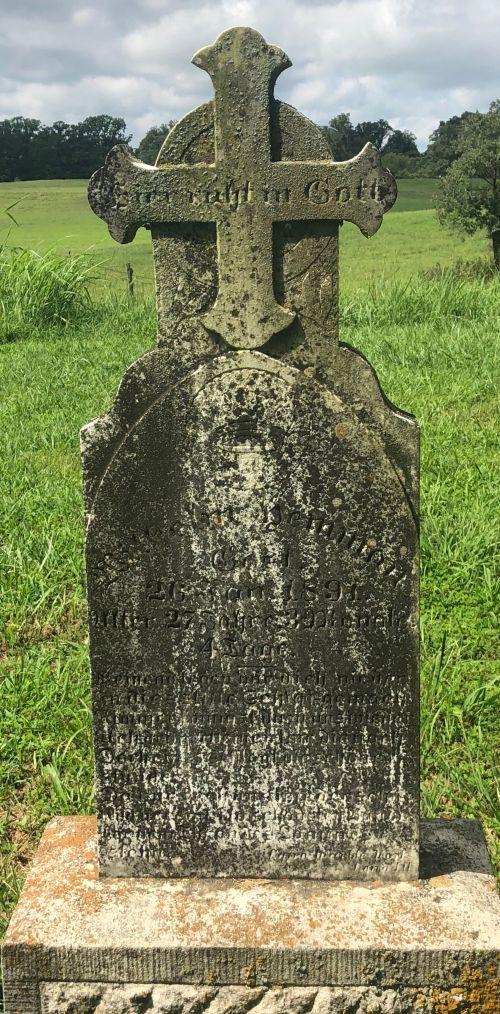 Wilhelm Gotthilf Hemmann gravestone Grace Uniontown MO