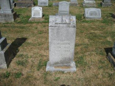 Wilhelmina Mueller Lohmann gravestone Trinity Altenburg MO