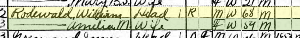 William Rodewald 1920 census Salem Township MO
