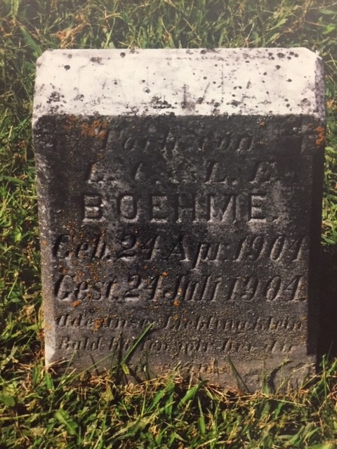 Alma Sarah Boehme gravestone St. Paul's Wittenberg MO
