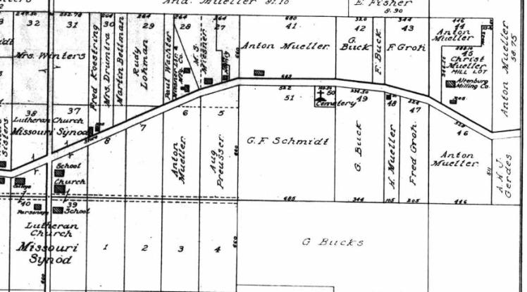 Anton Mueller land map Altenburg east end