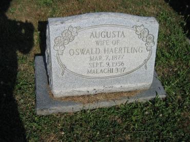 Augusta Haertling gravestone Trinity Altenburg MO