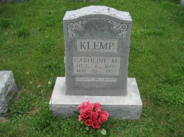Caroline Klemp gravestone Immanuel Perryville MO