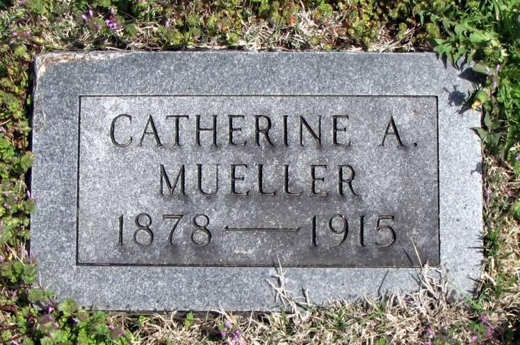 Catherine Mueller gravestone Zion Pittsburg KS