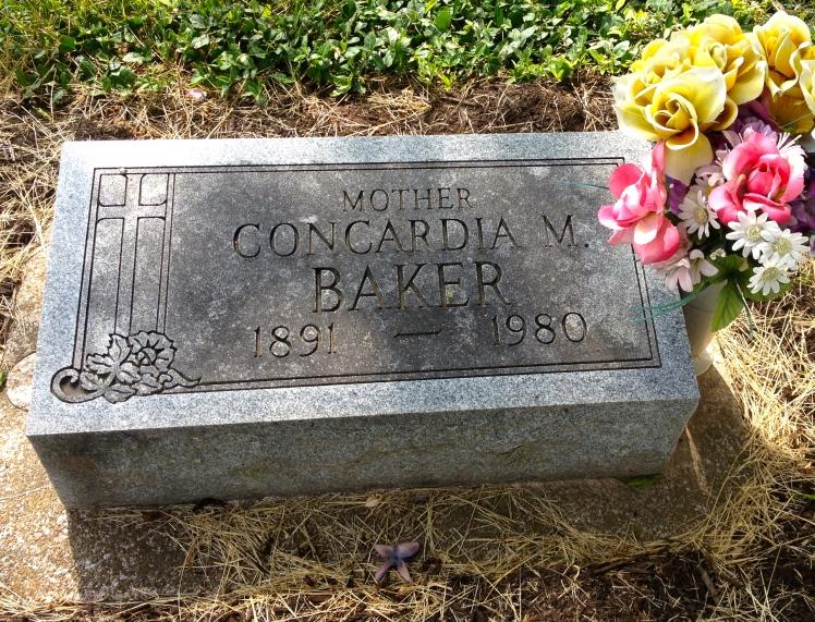 Concordia Baker gravestone Immanuel Murphysboro IL