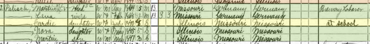 Concordia Palisch 1900 census Murphysboro IL