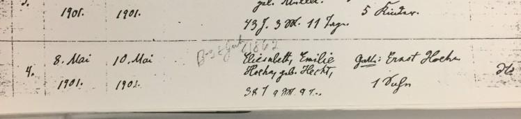 Emilie Hecht death record Trinity Altenburg MO
