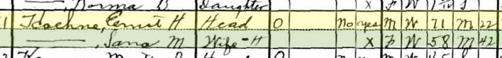 Ernst Hoehne 1930 census Brazeau Township MO